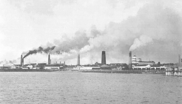 Copper Smelters at Wallaroo viewed from the Gulf