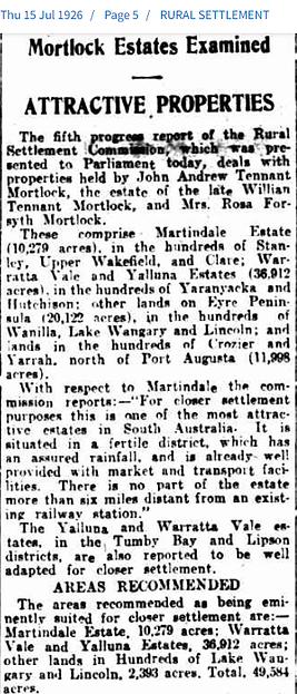 15 July 1926 Mortlock Estates Examined.png