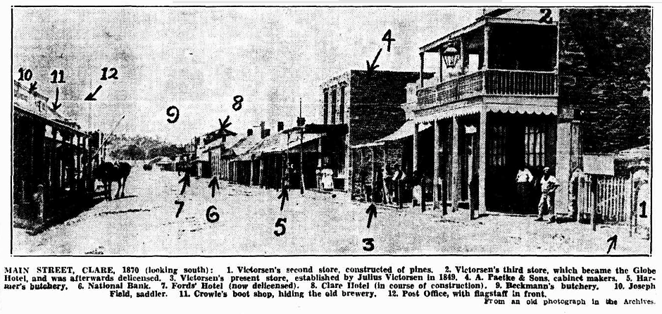 Main Street Clare 1870 (looking South).w