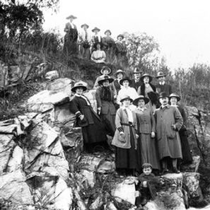 Visitors to Clare for the opening of the Railway