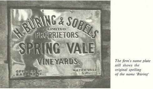 Buring & Sobels business nameplate 1910.