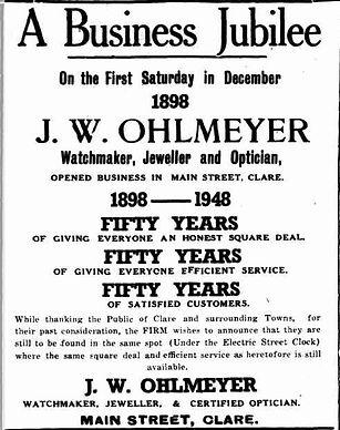 Business Jubilee Ohlmeyer Watch Jeweller
