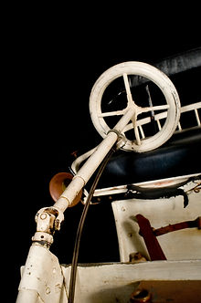 Detail of the articulated steering system of the Jigger