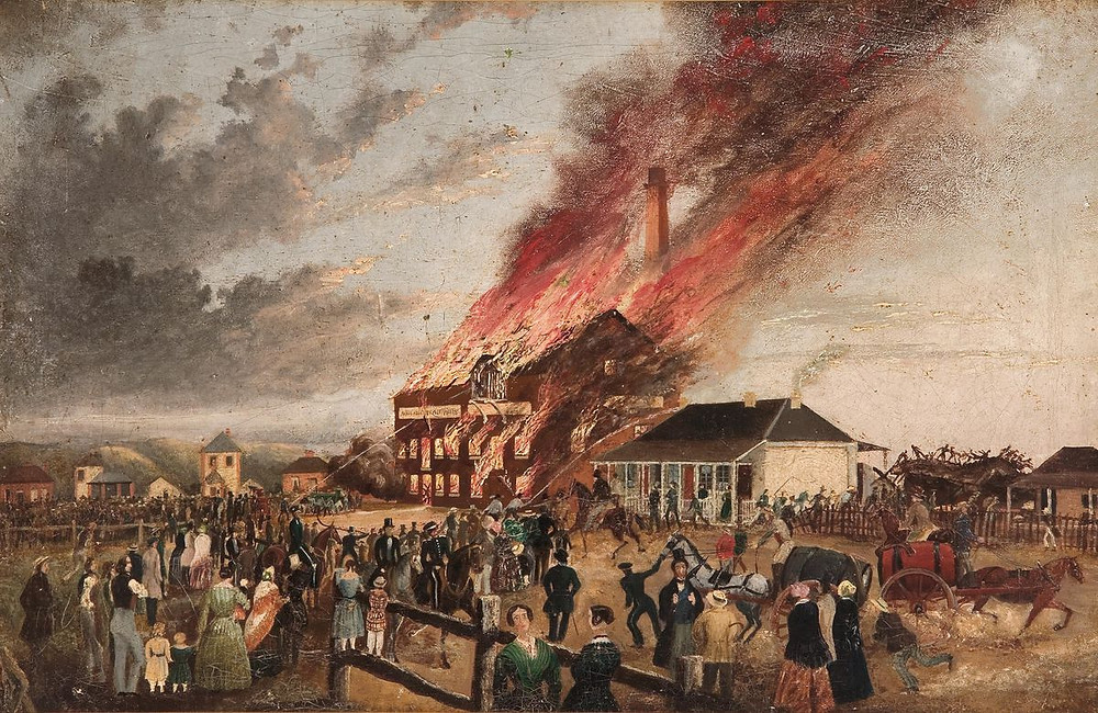 Flour Mill on Fire, Mill Street Adelaide