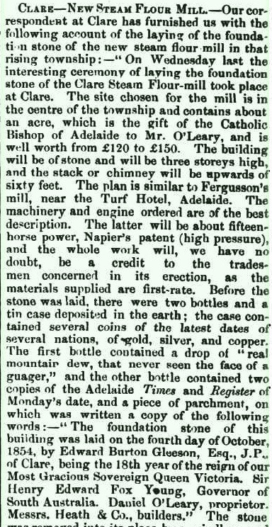 Newspaper cutting from  Adelaide Observer (SA : 1843 - 1904) Sat 14 Oct 1854 Page 10