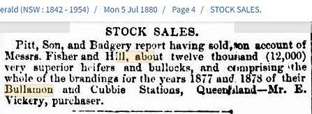 Bullamon and Cubbie Superior cattle sold