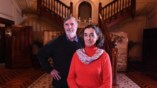 Millie Nicholls and brother George Hawker at Martindale Hall, Mintaro SA