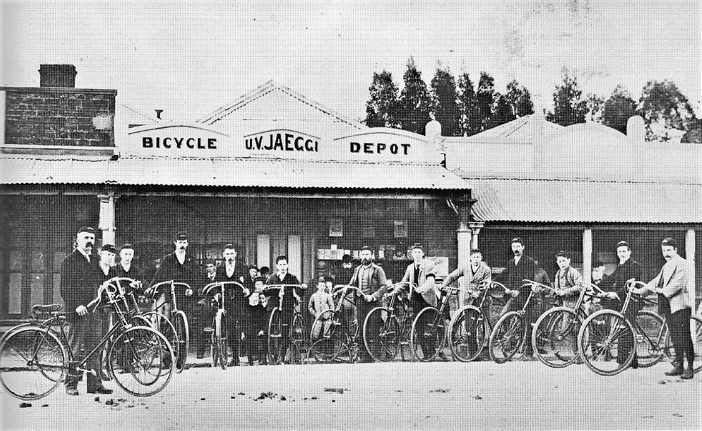 Cyclists outside Clare Bicycle Depot