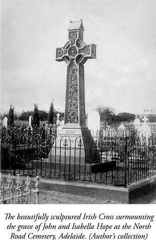 Irish Cross over Grave of John and Isabe