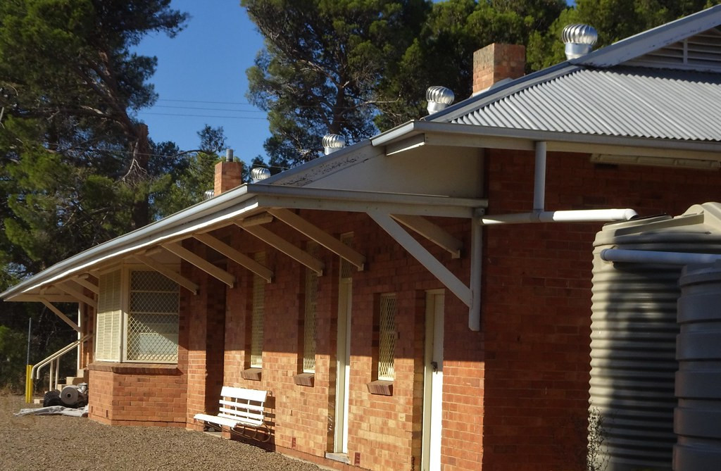 Snowtown.The Kadina to Snowtown railway built 1880 and a stone station. In 1923 the railway was extended from Bowmans Snowtown. The current station was built in 1945.