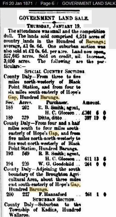 Gpvt Land Sale THursday January 19 1871
