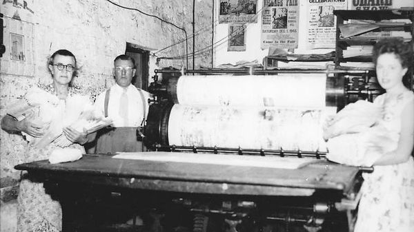 The the new printing machine c 1956 in t