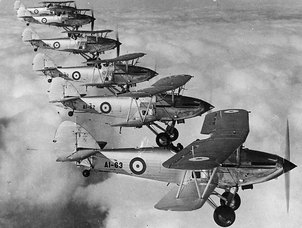3_Sqn_1939_Demon formation of Hawker Dem