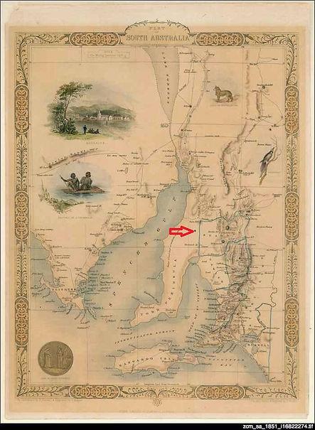 Arrow on Historic Map of Colonial SA.jpg