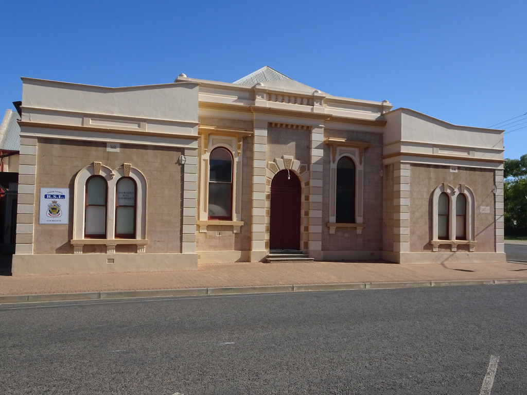 Snowtown. The old Institute library opened in 1881 and this grand entrance was completed in 1885.