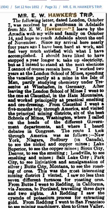 Mr E.W. Hawker's Trip 12 Nov 1892.png