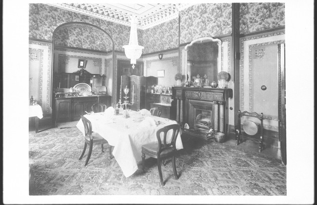 Martindale Hall dining room with table extendable for twelve diners. B-46416.jpeg