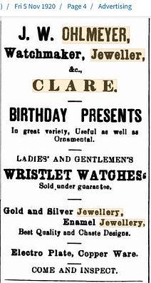 J W Ohlmeyer Birthday Presents Advert 5