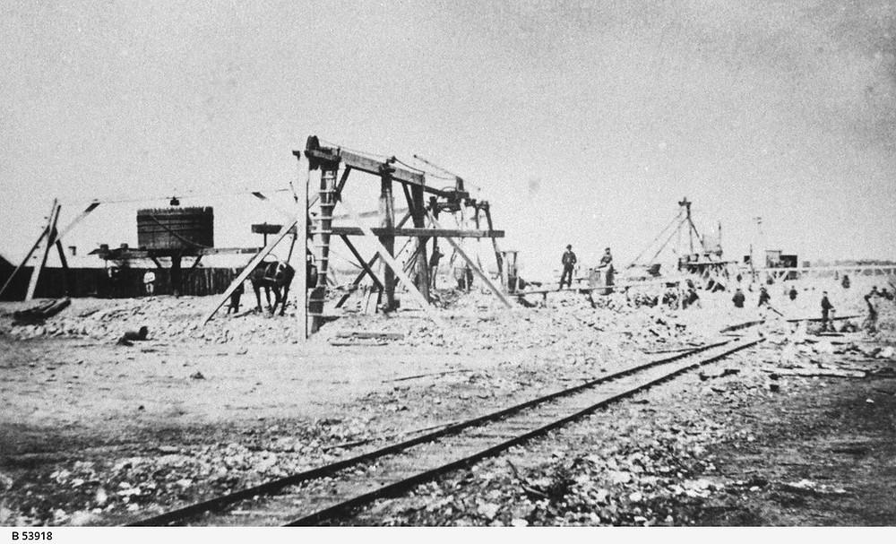 The mining area of Moonta (1870) Sosuth Australia