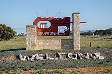 Snowtown welcome wall