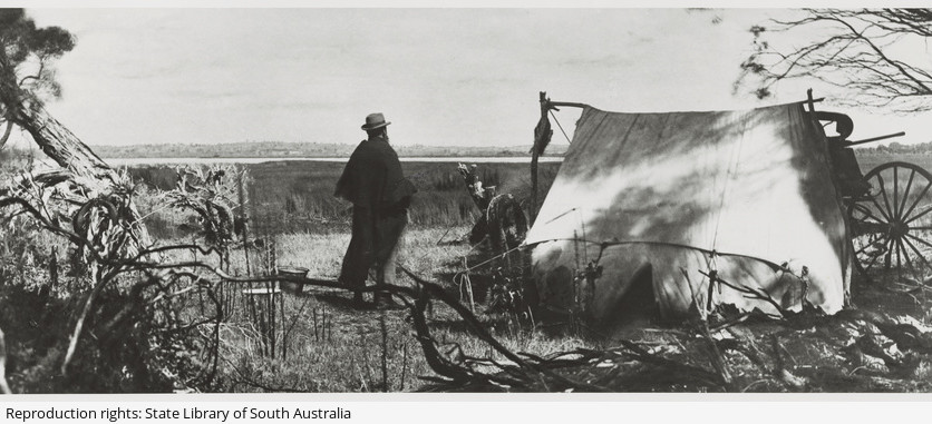 A stormy camp, Lake Frome', 1900 with H.