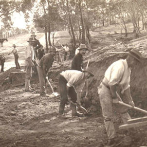 Clare railway - first day of construction