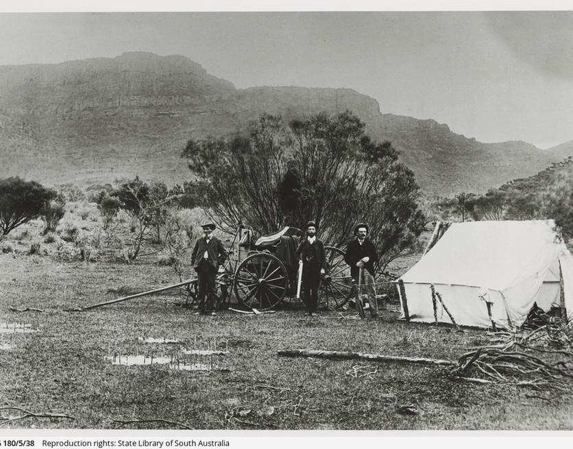 Camp below Rawnsley's Bluff, Flinders Ra