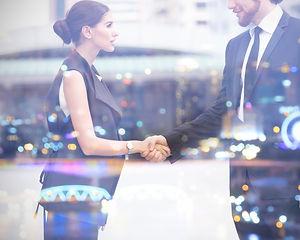 Handshake of Customer businesspeople  wh