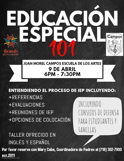 Special Education 101 Spanish - Made wit
