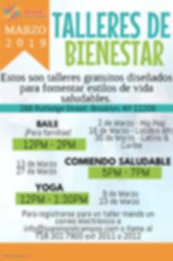 Wellness Workshops Mailing Flyer Spanish