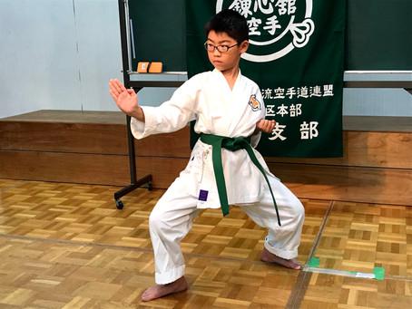 竹原支部の3番弟子が、緑帯になりましした。