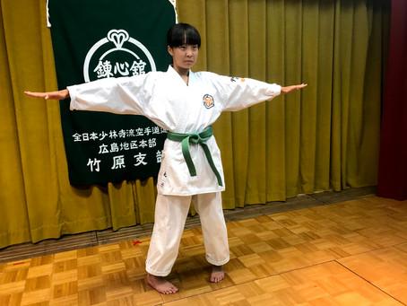竹原支部の一番弟子が、緑帯になりました。