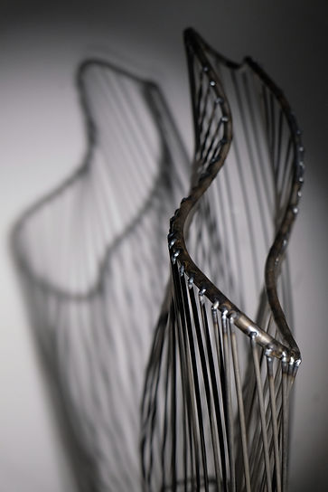 Amy Morgan - Metal Linear Sculpture with Shadow