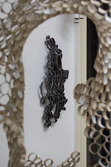 Amy Morgan - Squished Steel Pipes Wall Sculpture