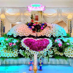 Buddhist Lotus Setup by Singapore Funeral Sanctuary