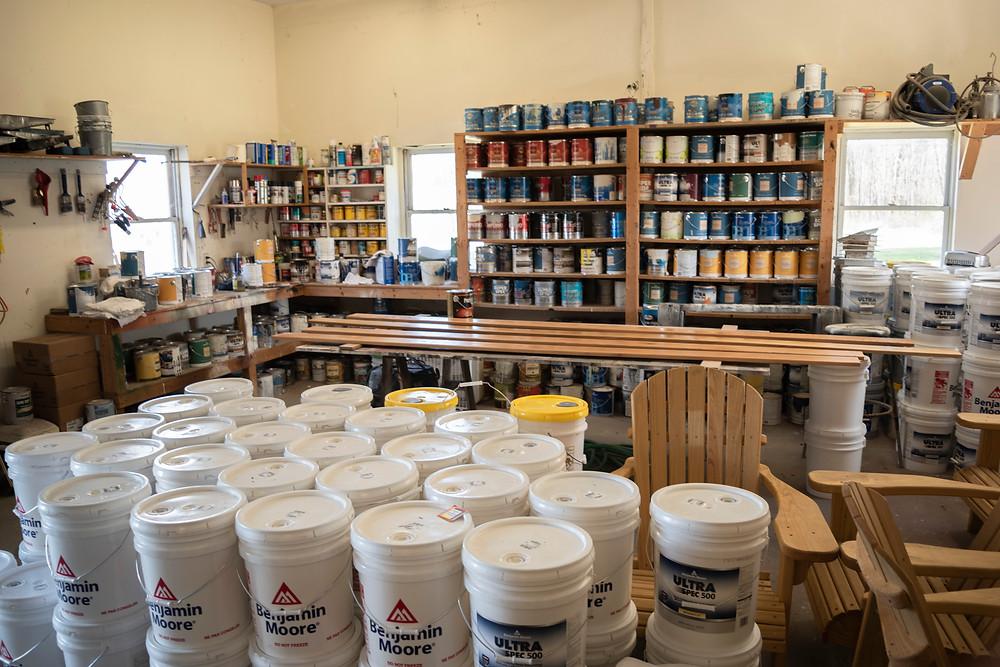 Inside Hampshire College Paint shop