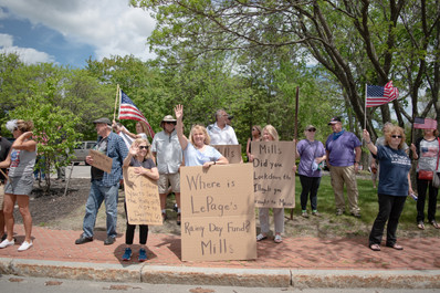 """""""Reopen America"""" Protest, Augusta, Maine"""