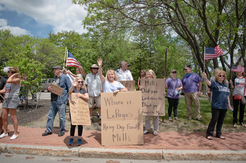 """Reopen America"" Protest, Augusta, Maine"