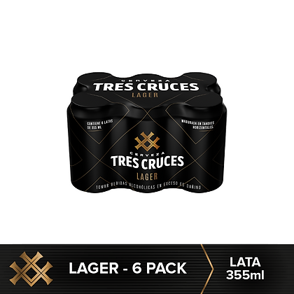 Six Pack Tres Cruces Lata 355 ml