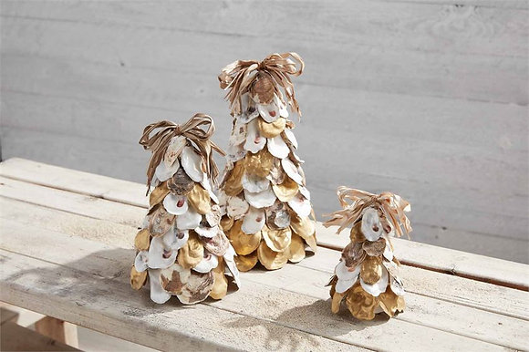 Gold & Natural Oyster Shell Trees
