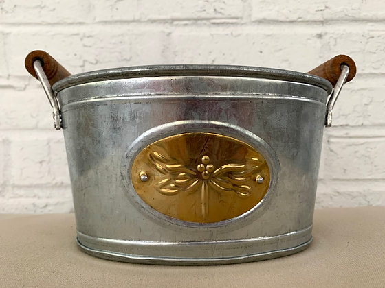 Dragonfly Stamped Tin Bucket