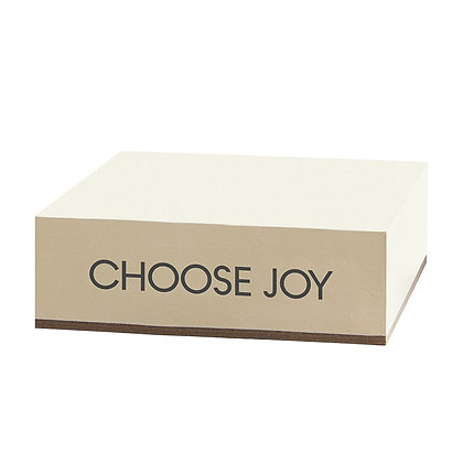 """Choose Joy"" Note Block"