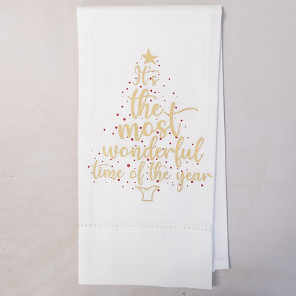 """""""It's the Most Wonderful Time of the Year""""  Hand Towel"""