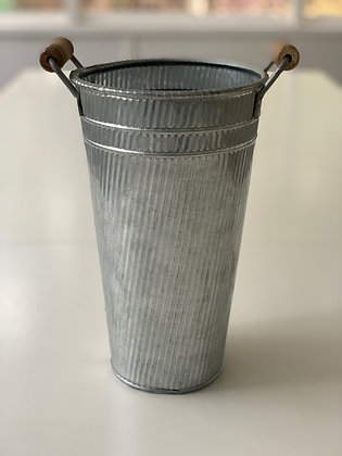 Galvanized French Flower Tin