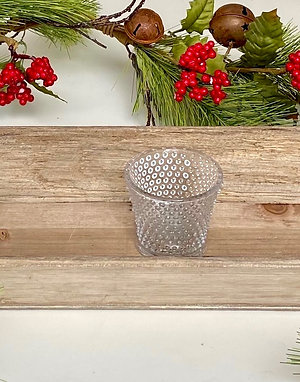 Beaded Handle Wooden Tray With 3 Votives