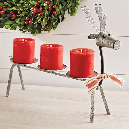 Tin Reindeer Candle Holder