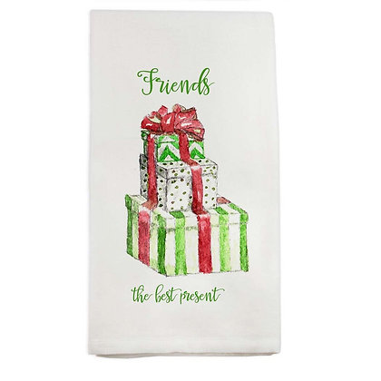 """Friends are the Best Present"" Hand Towel"