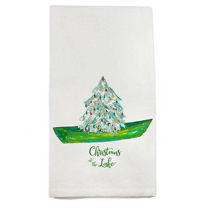 """""""Christmas at the Lake"""" Hand Towel"""
