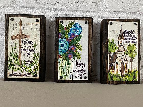 Inspirational Wooden Blocks