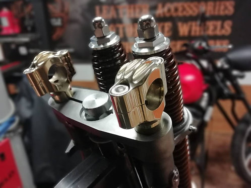 Solid Brass Handlebar Low Risers